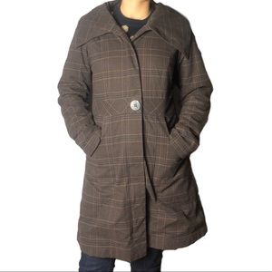 Patagonia Plaid Herringbone Insulated Coat
